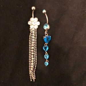Two new belly button rings